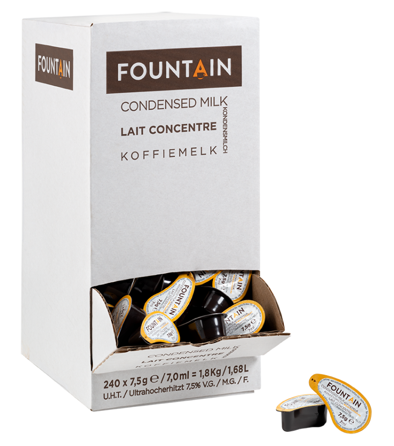 FOUNTAIN LAIT EN COUPELLES - 7,5GR x 240