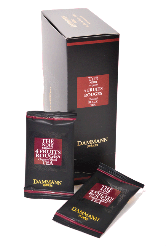 DAMMANN Frères THE NOIR 4 FRUITS ROUGES - 24 PCS